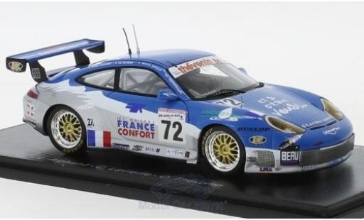 Porsche 996 GT3 RS 1/43 Spark 911 No.72 24h Le Mans 2002 L.Alphand/C.Lavieille/O.Thevenin diecast model cars