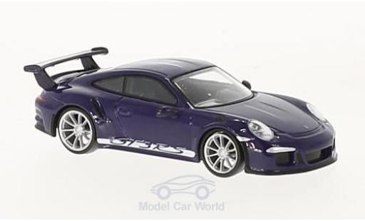 Porsche 991 GT3 RS 1/64 Spark 911 purple 2016