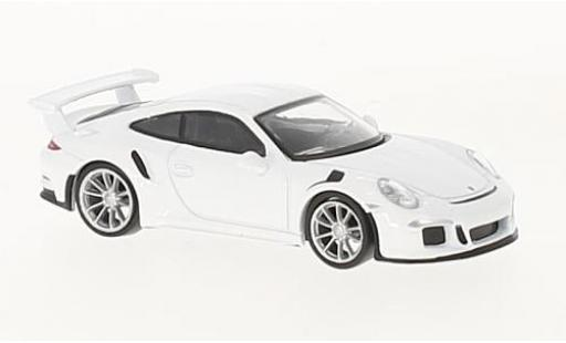 Porsche 991 GT3 RS 1/64 Spark 911 blanche 2016 miniature