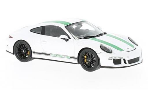 Porsche 991 R 1/43 Spark 911 white/green 2017 diecast model cars