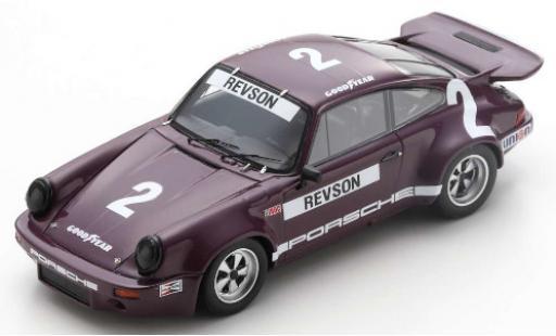 Porsche 930 RS 1/43 Spark 911 3.0 No.2 IROC Daytona 1974 P.Revson miniature
