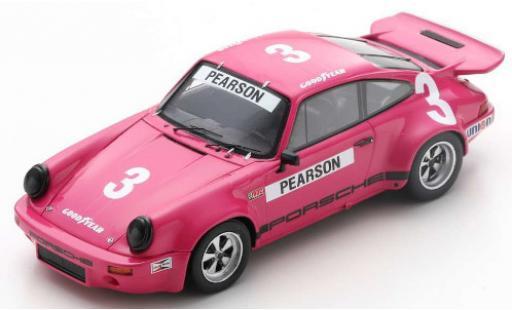 Porsche 930 RS 1/43 Spark 911 3.0 No.3 IROC Daytona 1974 D.Pearson diecast model cars