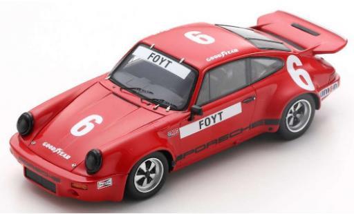 Porsche 930 RS 1/43 Spark 911 3.0 No.6 IROC Daytona 1974 A.J.Foyt miniature