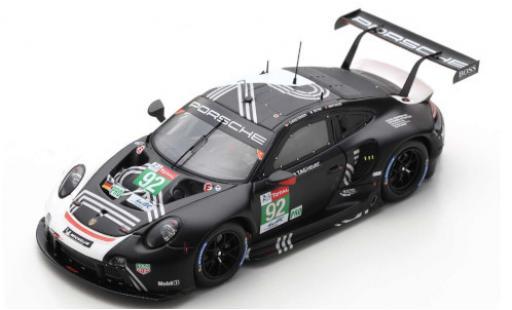 Porsche 992 RSR 1/43 Spark 911 -19 No.92 GT Team 24h Le Mans 2020 M.Christensen/K.Estre/L.Vanthoor diecast model cars