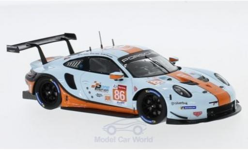 Porsche 991 SC 1/43 Spark R No.86 Gulf Racing Gulf 24h Le Mans 2018 M.Wainwright/B.Barker/A.Davison diecast