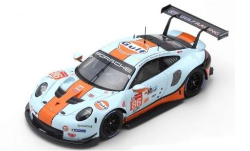 Porsche 992 RSR 1/87 Spark 911 No.86 Gulf Racing Gulf 24h Le Mans 2019 M.Wainwright/B.Barker/T.Preining diecast model cars