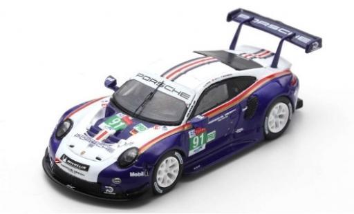 Porsche 991 RSR 1/87 Spark 911 No.91 GT Team 24h Le Mans 2018 R.Lietz/G.Bruni/F.Makowiecki diecast model cars