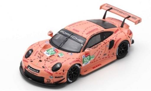 Porsche 911 1/18 Spark RSR No.92 GT Team 24h Le Mans 2018 M.Christensen/K.Estre/L.Vanthoor miniature