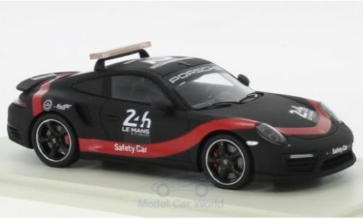 Porsche 911 1/43 Spark Turbo 24h Le Mans 2018 Saftey Car miniature