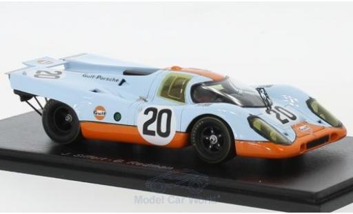 Porsche 917 1/43 Spark K No.20 Gulf- Gulf 24h Le Mans 1970 B.Redman/J.Siffert diecast