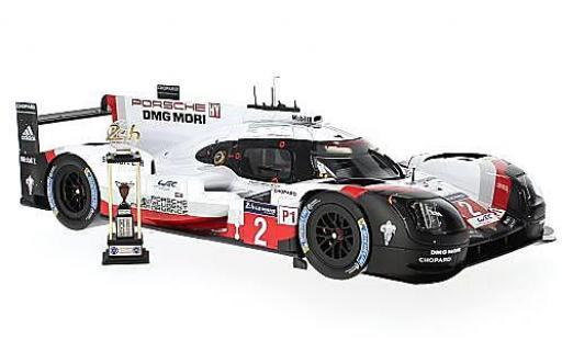 Porsche 919 1/18 Spark Hybrid No.2 LMP Team 24h Le Mans 2017 T.Bernhard/E.Bamber/B.Hartley miniature