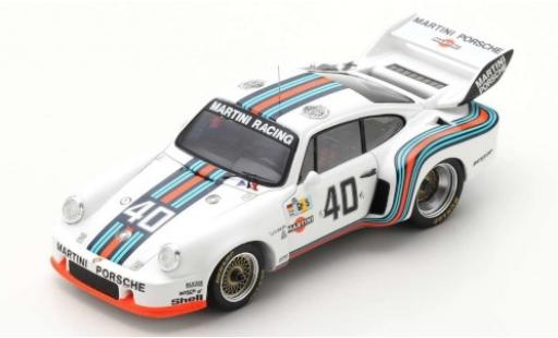 Porsche 935 1976 1/43 Spark No.40 Martini Racing System Martini 24h Le Mans Training R.Stommelen/M.Schurti diecast model cars