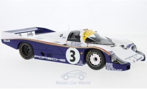 Porsche 956 1983 1/18 Spark No.3 Rothmans 24h Le Mans mit Decals A.Holbert/H.Haywood/V.Schuppan miniature