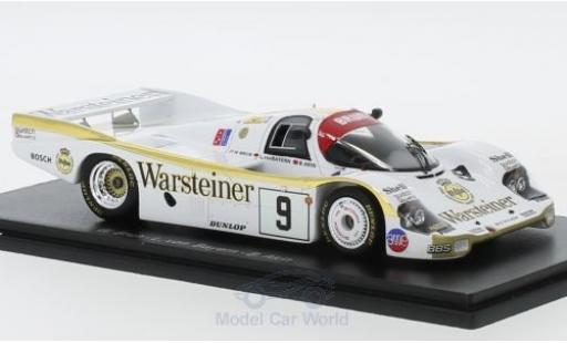 Porsche 956 1984 1/43 Spark No.9 Warsteiner 24h Le Mans W.Brun/L.von Bayern/B.Akin miniature