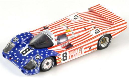 Porsche 956 1986 1/64 Spark RHD No.8 Joest Racing Spirit of America 24h Le Mans G.Follmer/J.Morton/K.Miller diecast model cars