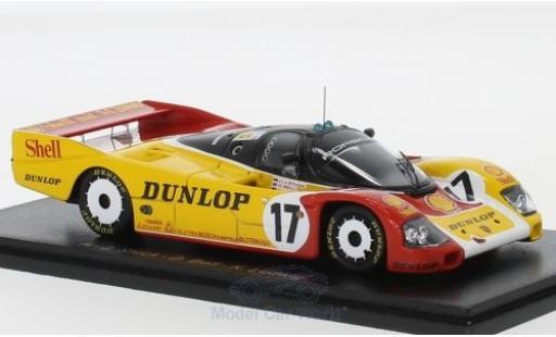 Porsche 962 1988 1/43 Spark C No.17 S 24h Le Mans D.Bell/K.Ludwig/H-J.Stuck miniature