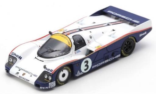 Porsche 962 1985 1/43 Spark C RHD No.3 Rothmans 24h Le Mans avec Decals A.Holbert/V.Schuppan/J.Watson miniature