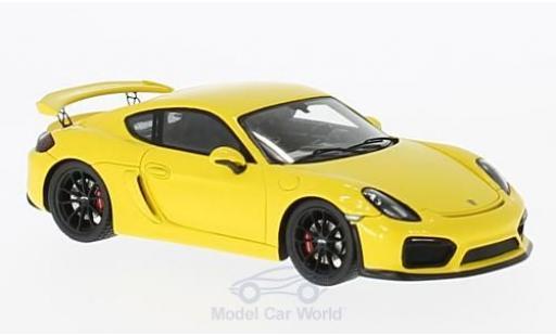 Porsche Cayman GT4 1/43 Spark jaune 2016 miniature