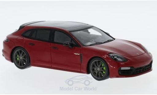 Porsche Panamera e-hybrid 1/43 Spark 4 Sport Turismo rojo 2018 coche miniatura