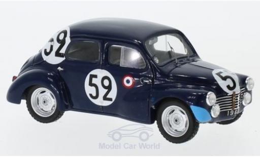 Renault 4CV 1/43 Spark 1063 No.52 24h Le Mans 1951 J.Sandt/P.Moser miniature