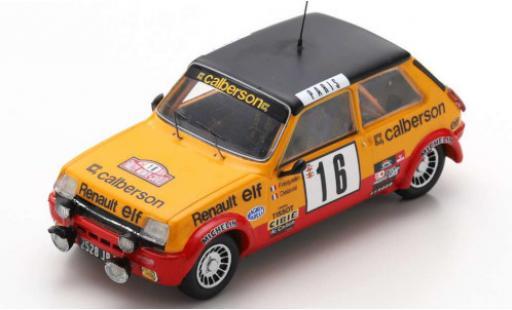 Renault 5 1/43 Spark Alpine No.16 Calberson Rally Monte Carlo 1979 G.Frequelin/J.Delaval diecast model cars