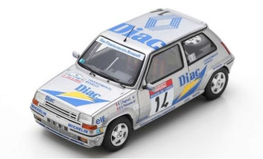 Renault 5 1/43 Spark GT Turbo No.14 Societe Diac Diac Rallye WM Tour de Corse 1990 J.Ragnotti/G.Thimonier miniature