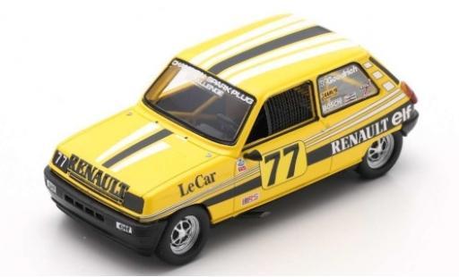 Renault 5 1/43 Spark No.77 IMSA RS 1980 P.Jacquemart diecast model cars