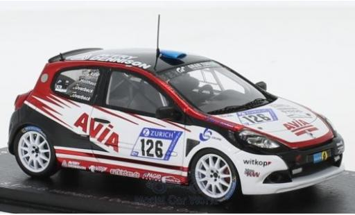 Renault Clio 1/43 Spark RS Cup No.126 Avia Racing 24h Nürburgring 2018 S.Epp/G.Holthaus/T.Overbeck/D.Overbeck modellautos