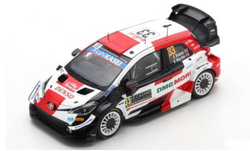 Toyota Yaris 1/43 Spark WRC No.33 Gazoo Racing Rallye WM Rallye Monte Carlo 2021 E.Evans/S.Martin miniature