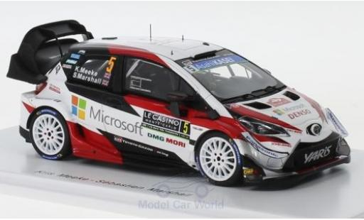Toyota Yaris 1/43 Spark WRC No.5 Gazoo Racing WRT Rallye WM Rally Monte Carlo 2019 K.Meeke/S.Marshall diecast model cars