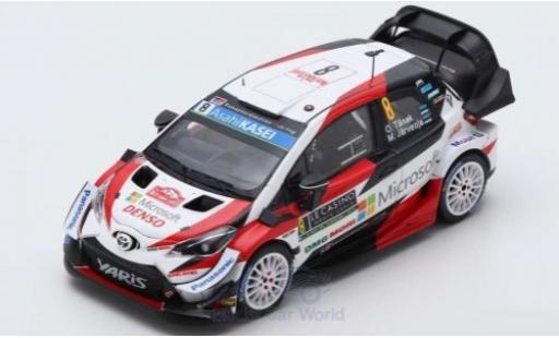 Toyota Yaris 1/43 Spark WRC No.8 Gazoo Racing WRT Rallye WM Rally Monte Carlo 2019 O.Tänak/M.Järveoja diecast model cars