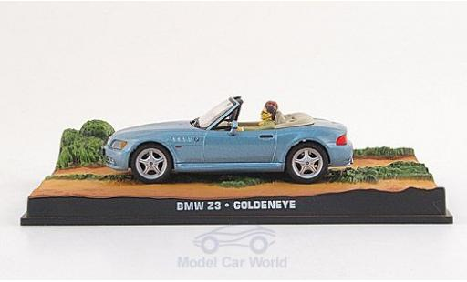 Bmw Z3 1/43 SpecialC 007 Roadster métallisé bleue James Bond 007 1995 GoldenEye ohne Vitrine miniature