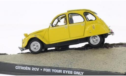 Citroen 2CV 1/43 SpecialC 007 6 jaune James Bond 007 In tödlicher Mission ohne Vitrine miniature
