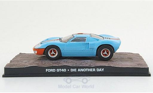 Ford GT40 1/43 SpecialC 007 GT 40 bleue/orange James Bond 007 2002 Stirb an einen anderen Tag ohne Vitrine miniature