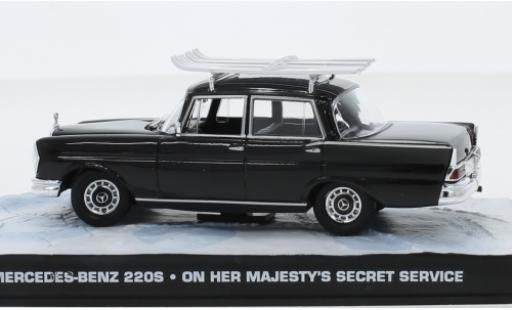 Mercedes 220 1/43 SpecialC 007 S (W111) noire James Bond 007 Im Geheimdienst Ihrer Majestät ohne Vitrine miniature