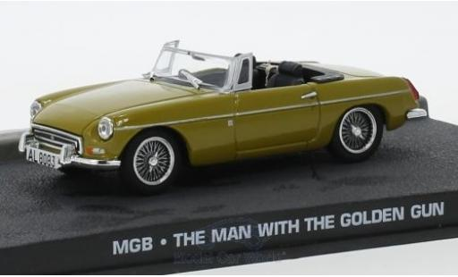 MG B 1/43 SpecialC 007 yellow James ond 007 1974 Der Mann mit dem goldenen Colt ohne Vitrine diecast model cars