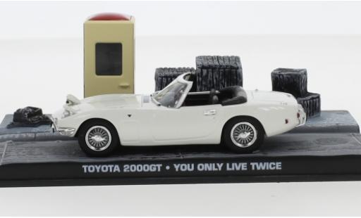 Toyota 2000 GT 1/43 SpecialC 007 Cabriolet blanche RHD James Bond 007 1967 Man lebt nur zweimal sans figurines miniature