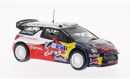 DS Automobiles DS3 1/43 SpecialC 100 Citroen WRC No.1 Red Bull Rally Mexico 2011 S.Loeb/D.Elena sans Vitrine miniature