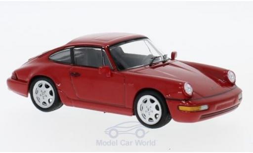 Porsche 964 SC 1/43 SpecialC 111 Carrera 4 rouge 1991 Collection miniature
