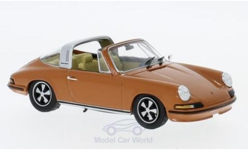 Porsche 911 Targa 1/43 SpecialC 111 Targa dunkelorange 1973 Collection miniatura
