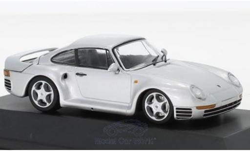 Porsche 911 1/43 SpecialC 111 959 grise 1986 Collection miniature