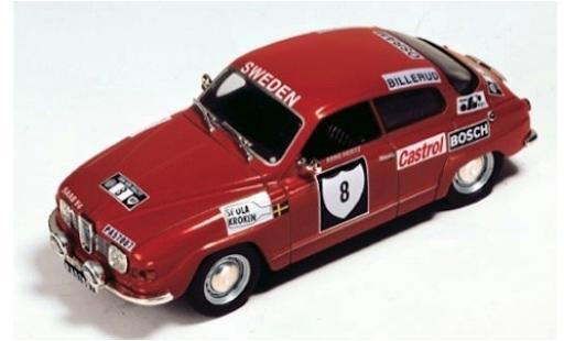 Saab 96 1/43 SpecialC 116 V4 No.8 Rallye Schweden 1972 S.Blomqvist/A.Hertz ohne Vitrine miniature