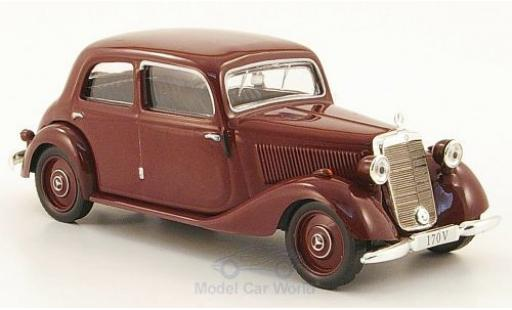 Mercedes 170 1/43 SpecialC 16 V Limousine (W136) rouge 1949 ohne Vitrine miniature