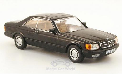 Mercedes 500 1/43 SpecialC 16 SEC (C126) schwarz 1981 ohne Vitrine modellautos