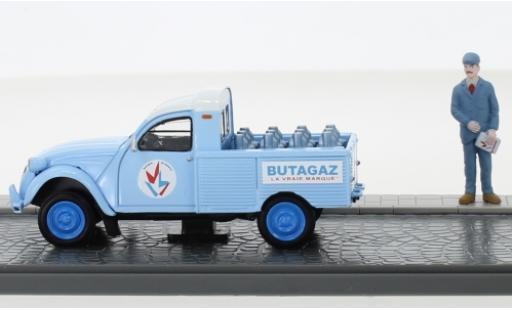 Citroen 2CV 1/43 SpecialC 93 2 CV Pick-Up Butagaz avec figurine sans Vitrine miniature