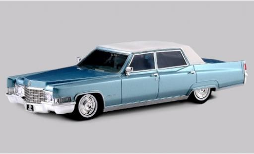 Cadillac Fleetwood 1/43 Stamp Models 60 Special Brougham metallise blue/matt-white 1969 diecast model cars