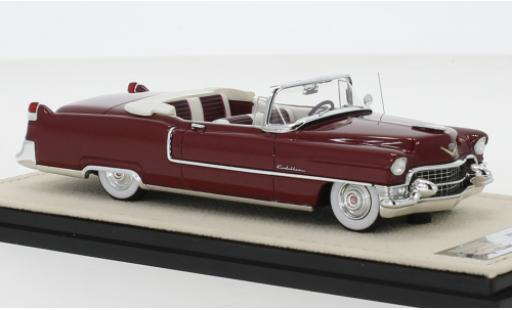Cadillac Series 62 1/43 Stamp Models Convertible metallise rouge 1955 Verdeck ouvert miniature