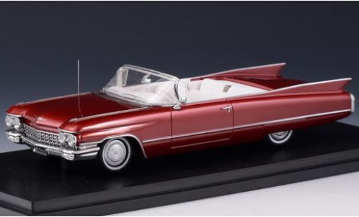 Cadillac Series 62 1/43 Stamp Models Convertible metallise red 1960 diecast model cars