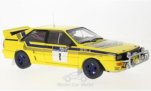 Audi Quattro 1/18 Sun Star A2 No.1 555 Rallye Hong Kong - Peking 1985 mit Decals H.Mikkola/A.Hertz miniature