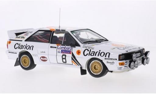 Audi Quattro 1/18 Sun Star A2 No.8 Clarion Rallye WM RAC Rallye 1985 P.Eklund/B.Cederberg